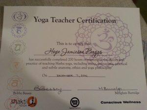 YTT certificate